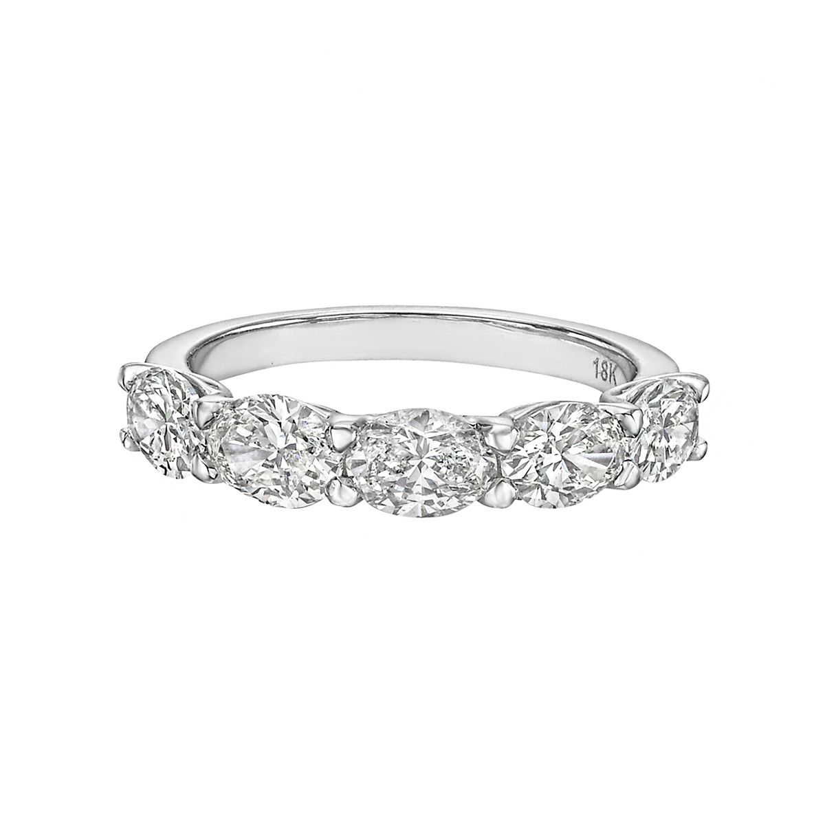 Oval-Cut Diamond 5-Stone Band Ring