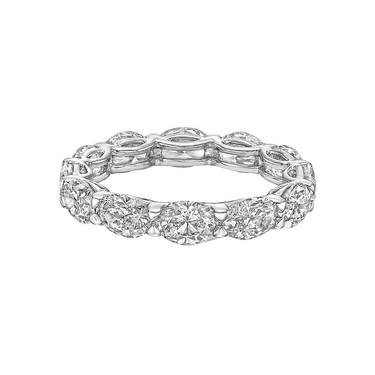 Oval-Cut Diamond East-West Eternity Band (3.78ct tw)