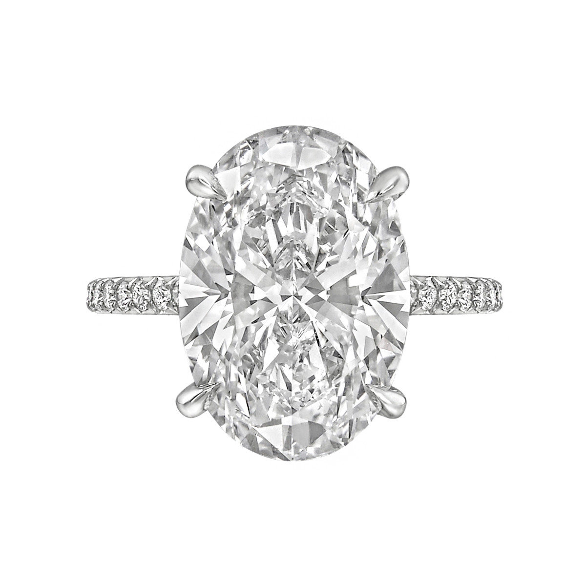 6.21ct Exceptional Type IIA Oval-Cut Diamond Ring