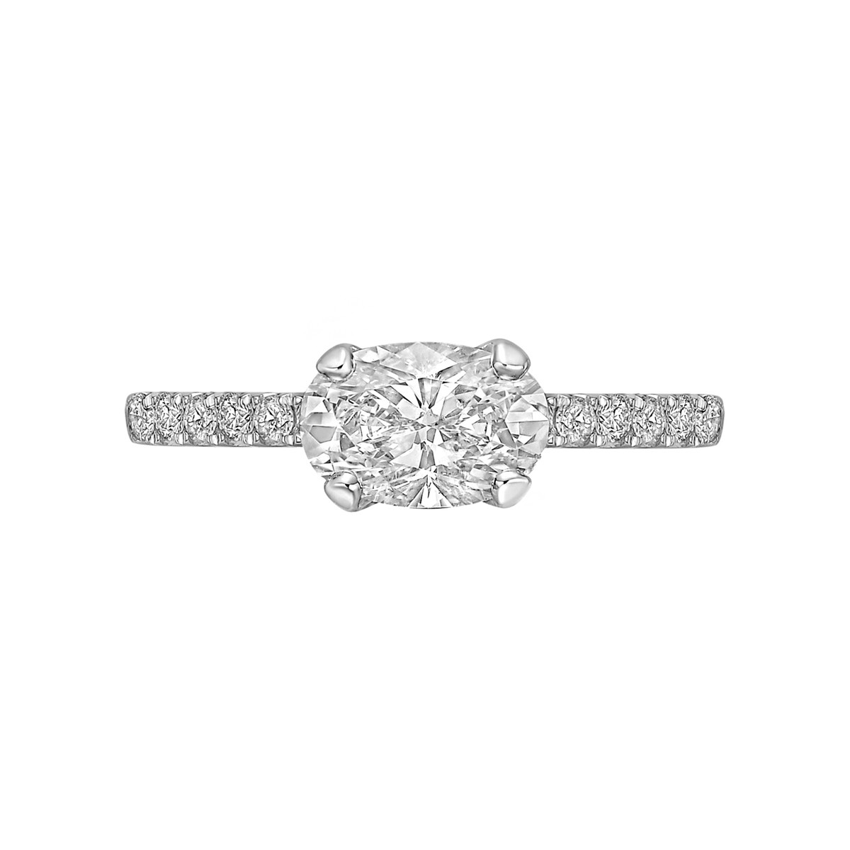 1.01ct Oval-Cut Diamond Ring (E/SI2)