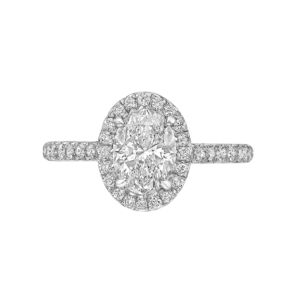 "1.10ct Oval Brilliant-Cut Diamond ""Oriana"" Ring"