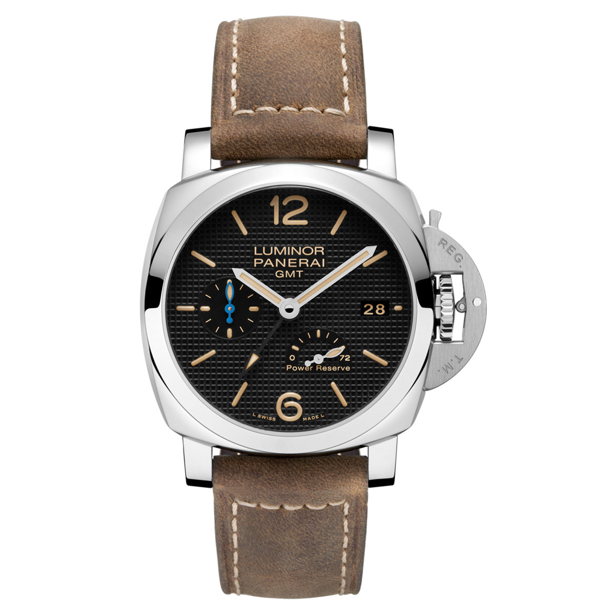 Luminor 42mm GMT Power Reserve Steel (PAM01537)