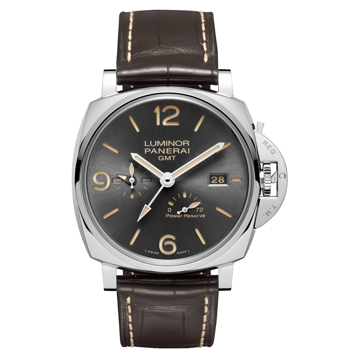 Luminor Due 3-Days GMT Power Reserve Steel (PAM00944)