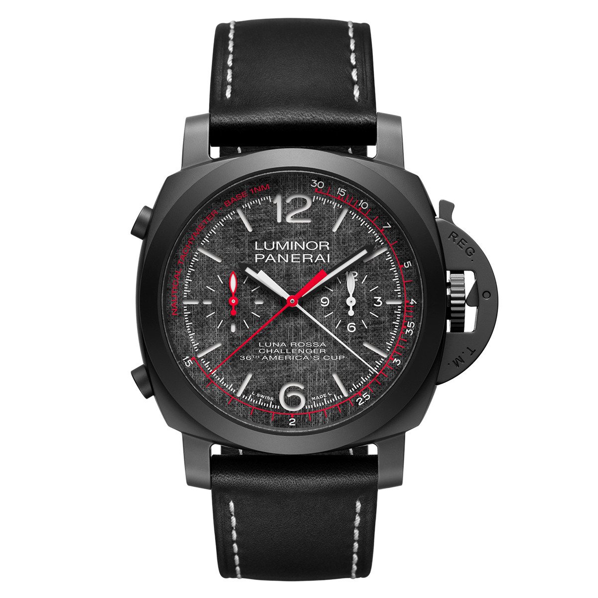 Luminor Luna Rossa Chrono Flyback Ceramic (PAM01037)