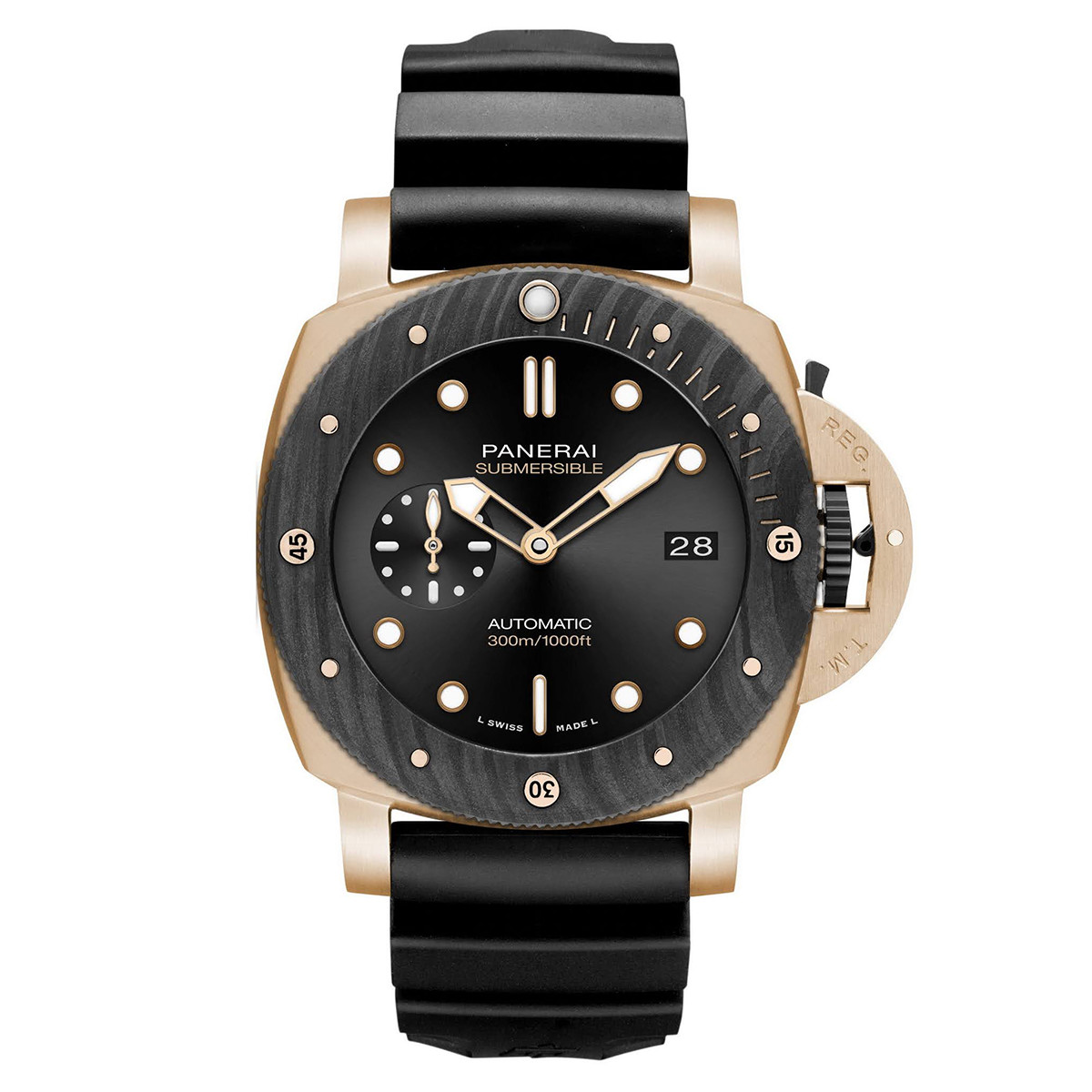 Submersible 44mm Goldtech OroCarbo (PAM01070)