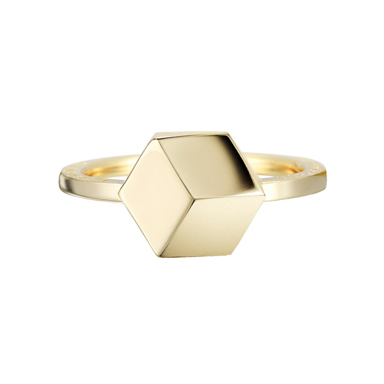 "Small 18k Yellow Gold ""Brillante"" Ring"
