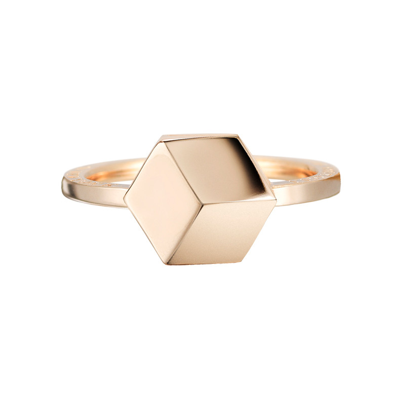 "Small 18k Rose Gold ""Brillante"" Ring"