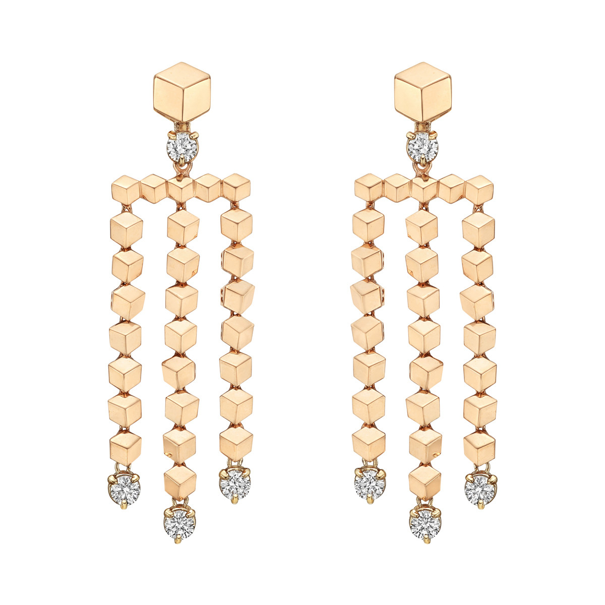 "18k Rose Gold & Diamond ""Brillante"" Chandelier Earrings"