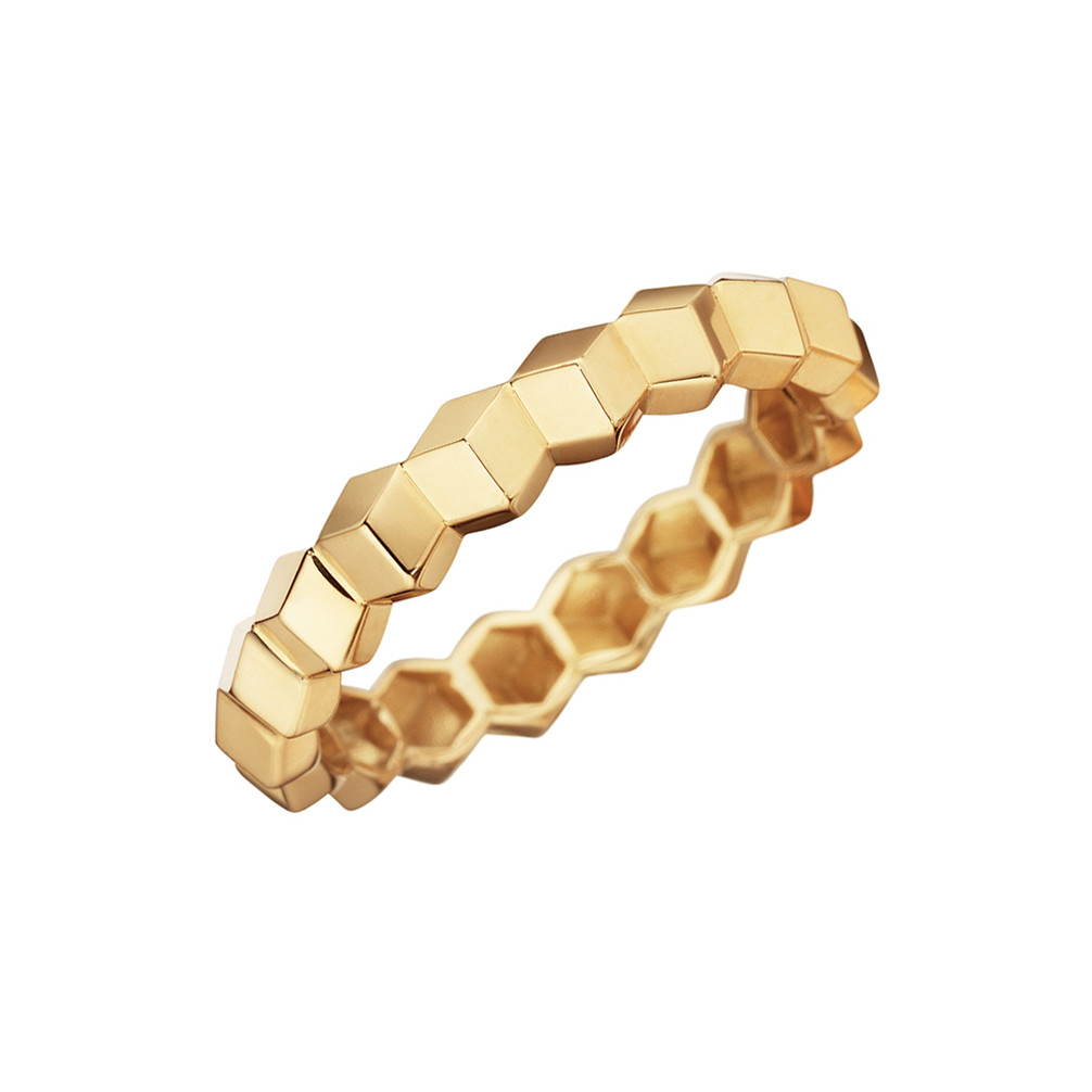 "18k Yellow Gold ""Brillante"" Band Ring"