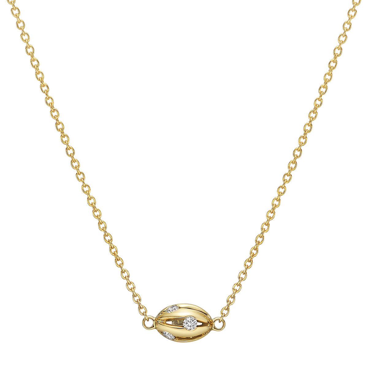 "18k Yellow Gold & Diamond ""Flutti"" Pendant Necklace"