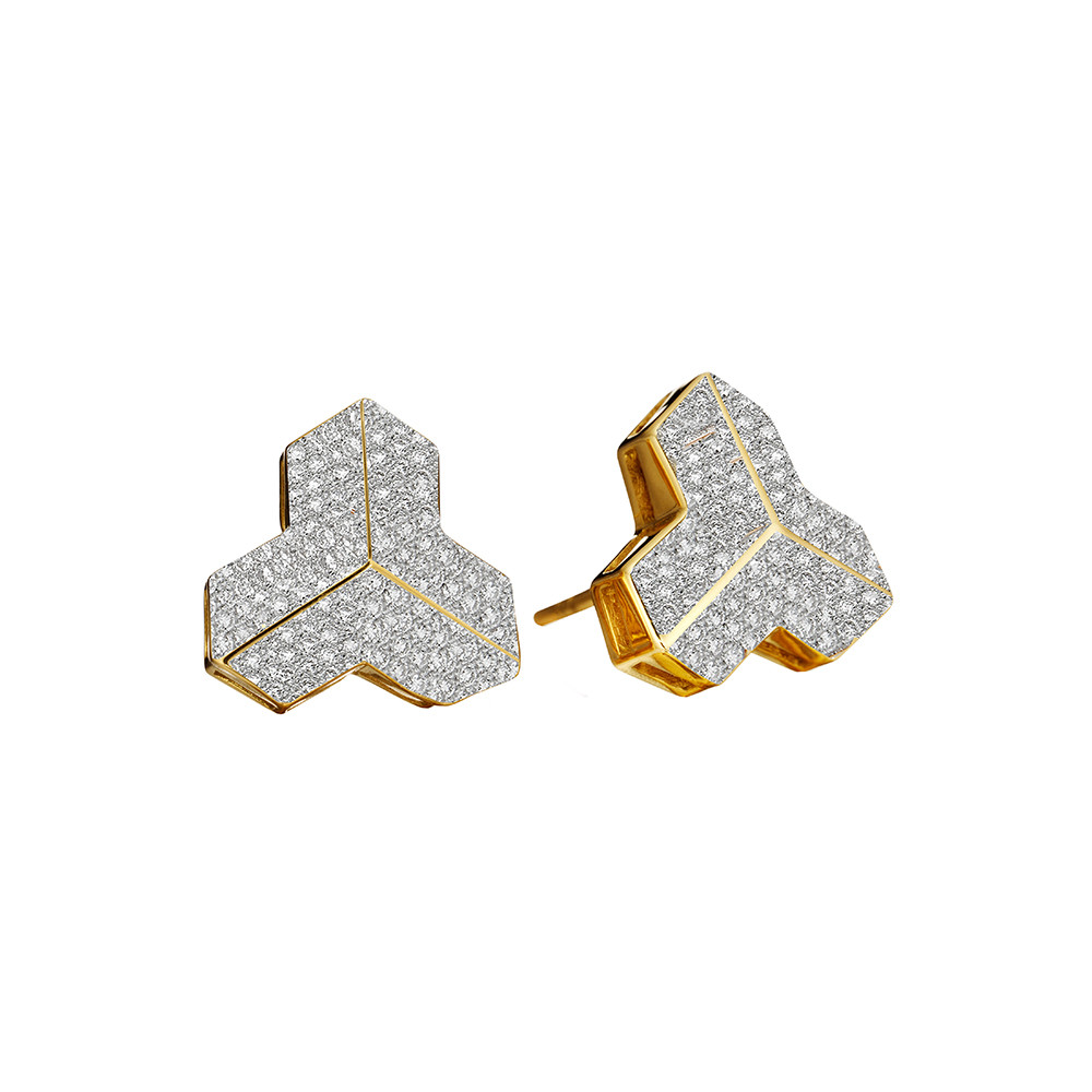 "Pavé Diamond ""Brillantissimo"" Stud Earrings"