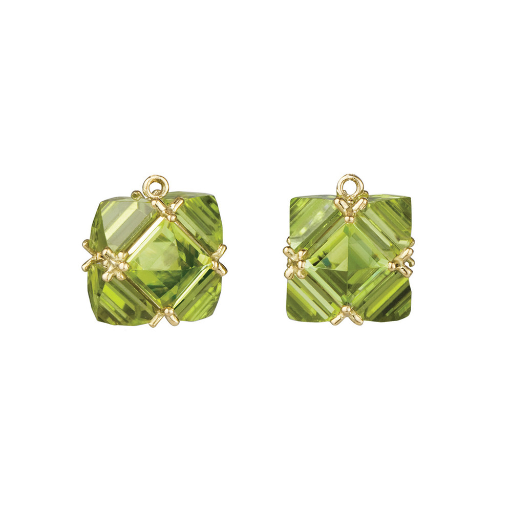 Peridot Square Earring Pendants