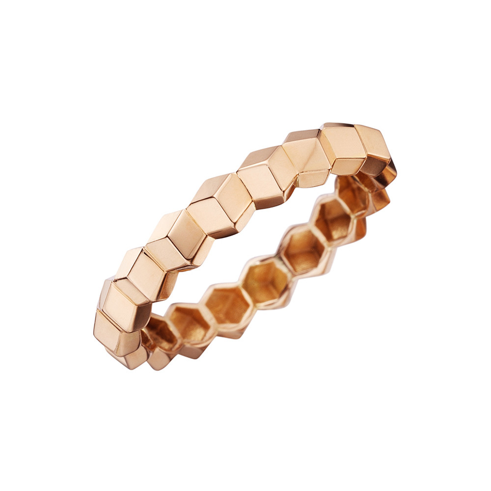 "18k Rose Gold ""Brillante"" Band Ring"
