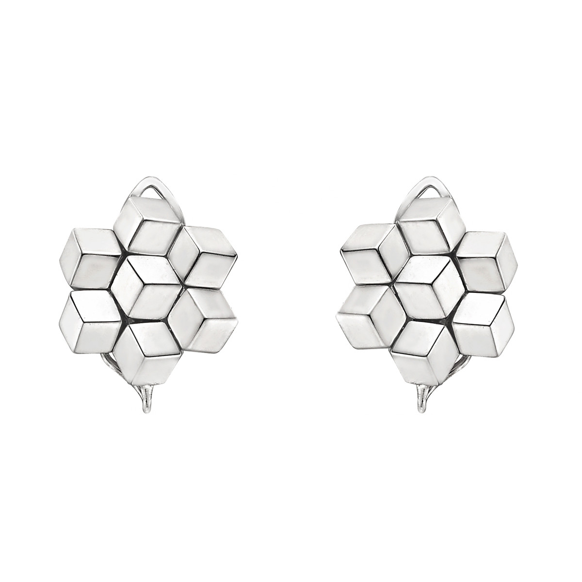 "18k White Gold ""Brillante"" Earclips"