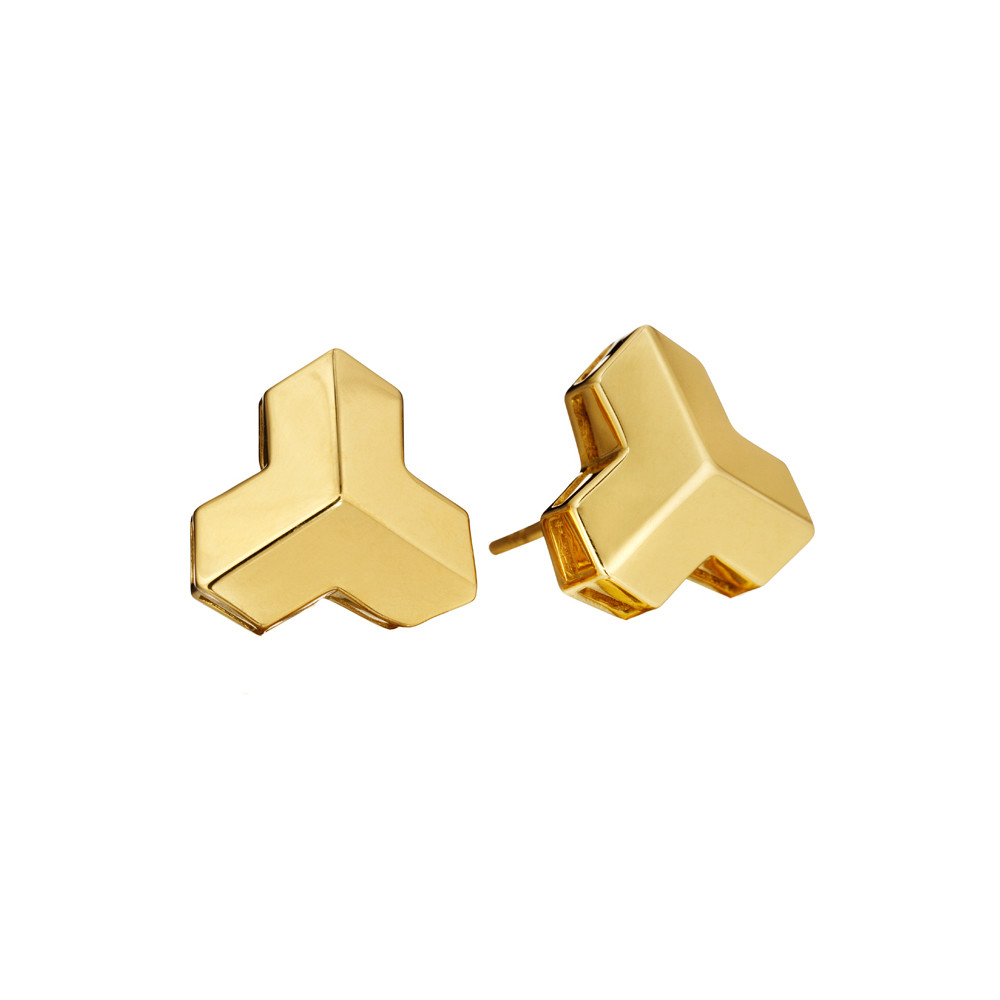"18k Yellow Gold ""Brillantissimo"" Stud Earrings"