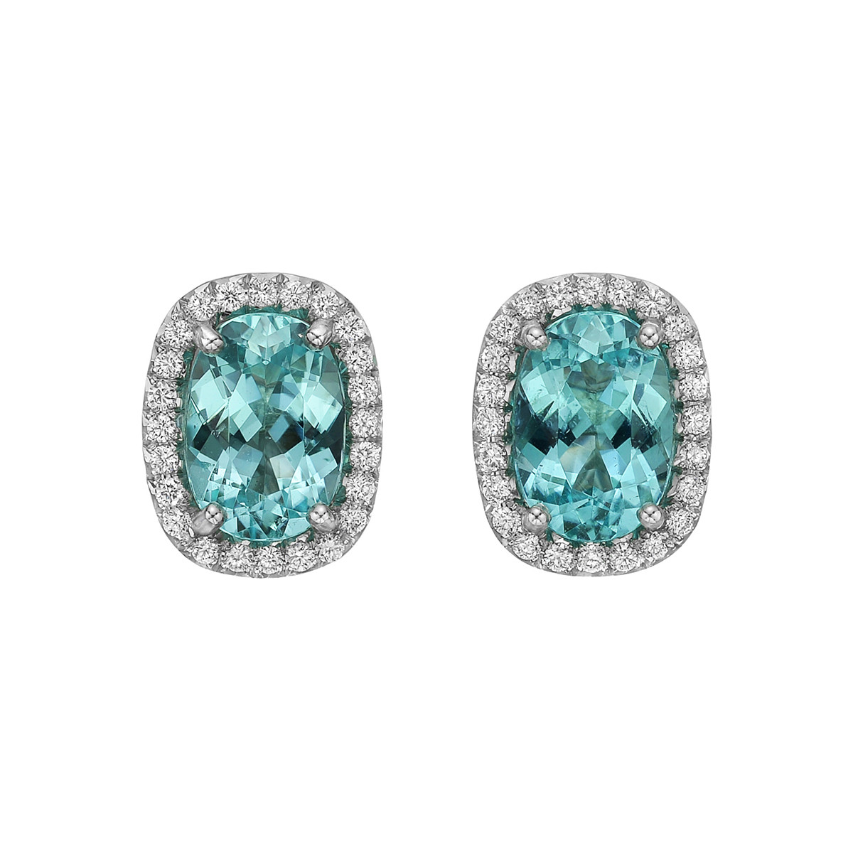 "3.13 Carat Paraiba Tourmaline ""Oriana"" Stud Earrings"