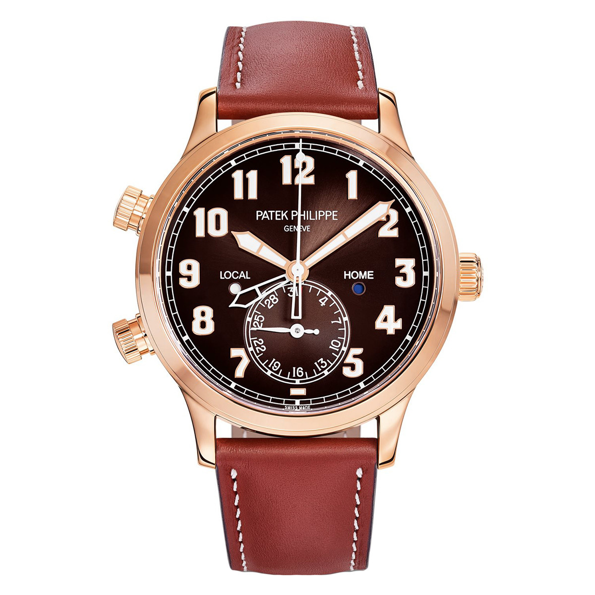 Calatrava Pilot Travel Time Rose Gold (5524R-001)