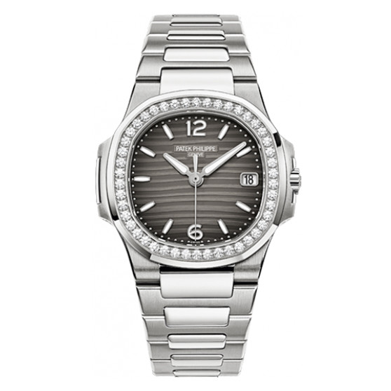 Ladies' Nautilus White Gold & Diamonds (7010/1G-012)