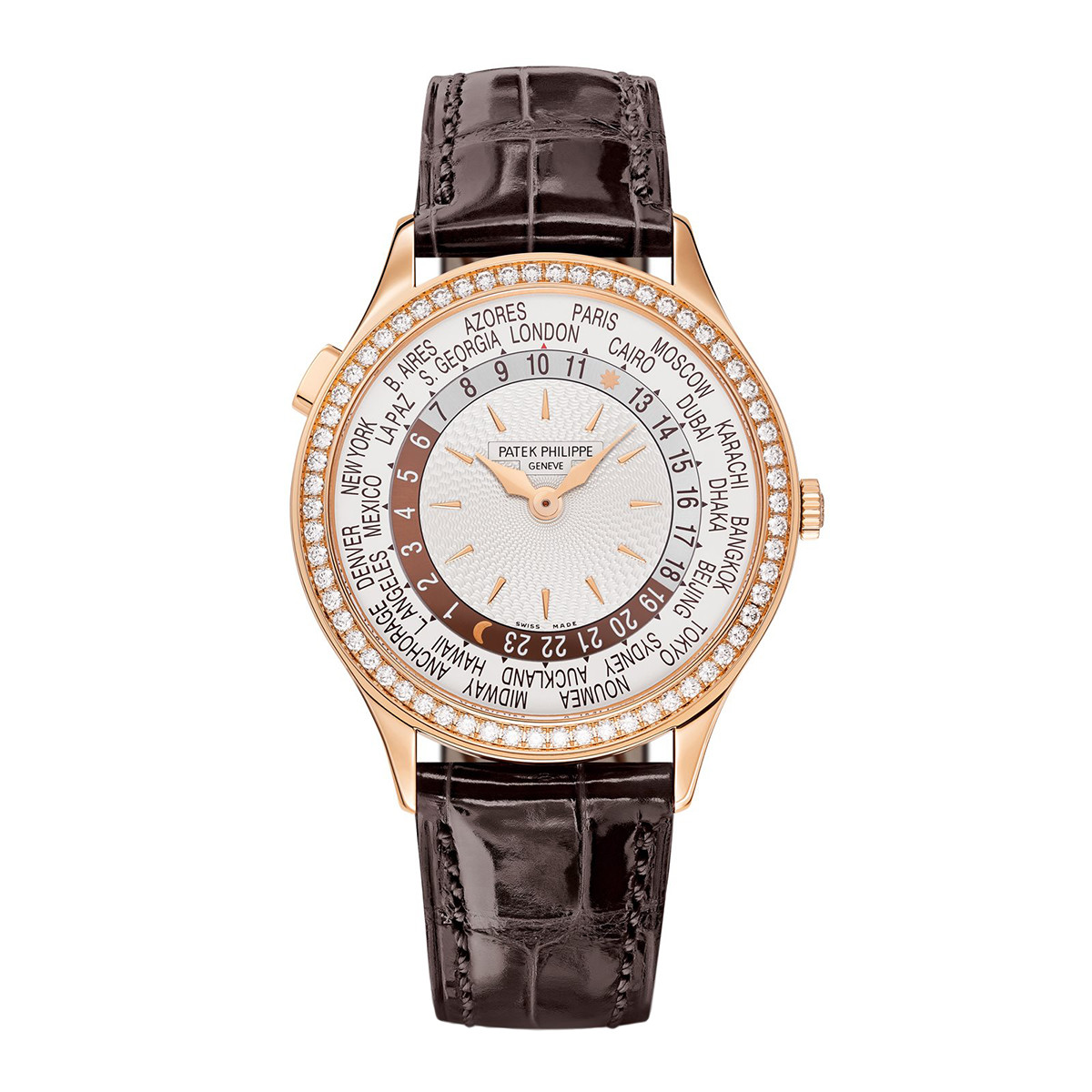 Ladies' World Time Rose Gold (7130R-013)