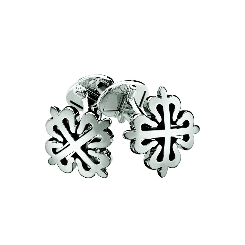 18k White Gold Calatrava Cross Cufflinks