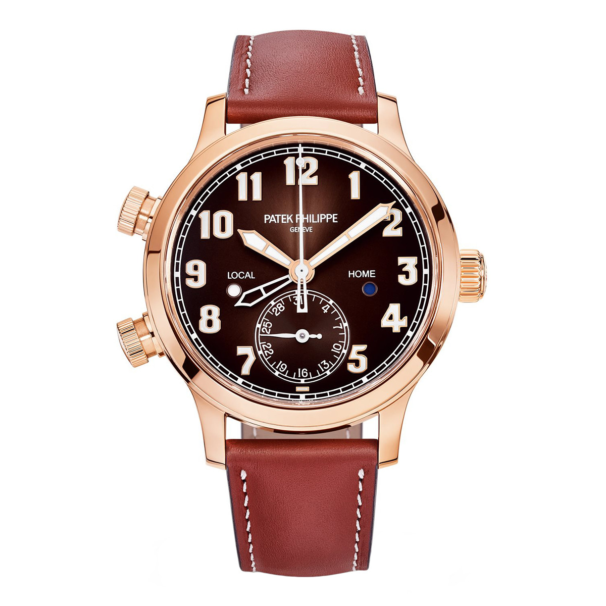 Calatrava Pilot Travel Time Rose Gold (7234R-001)