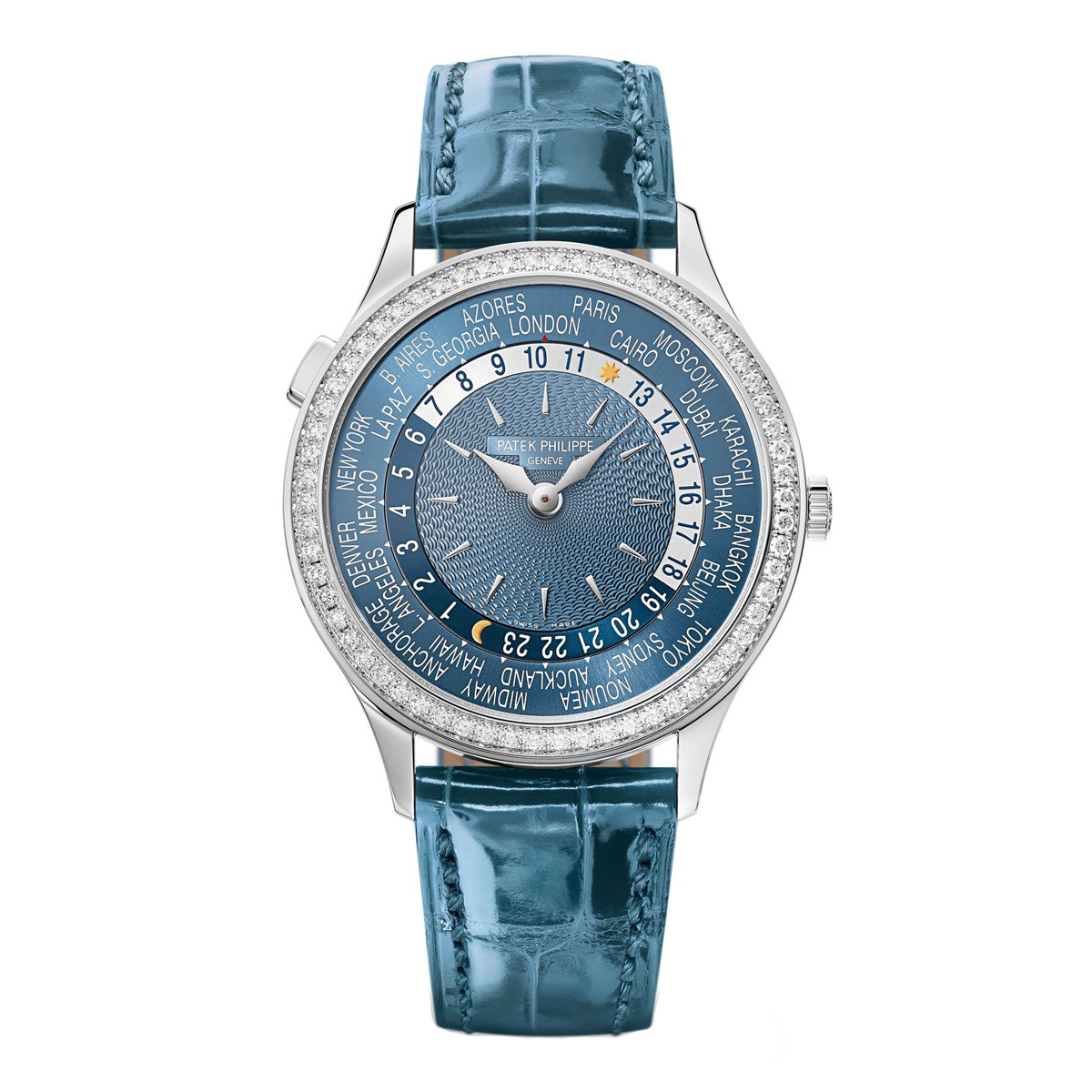 Ladies' World Time White Gold (7130G-016)