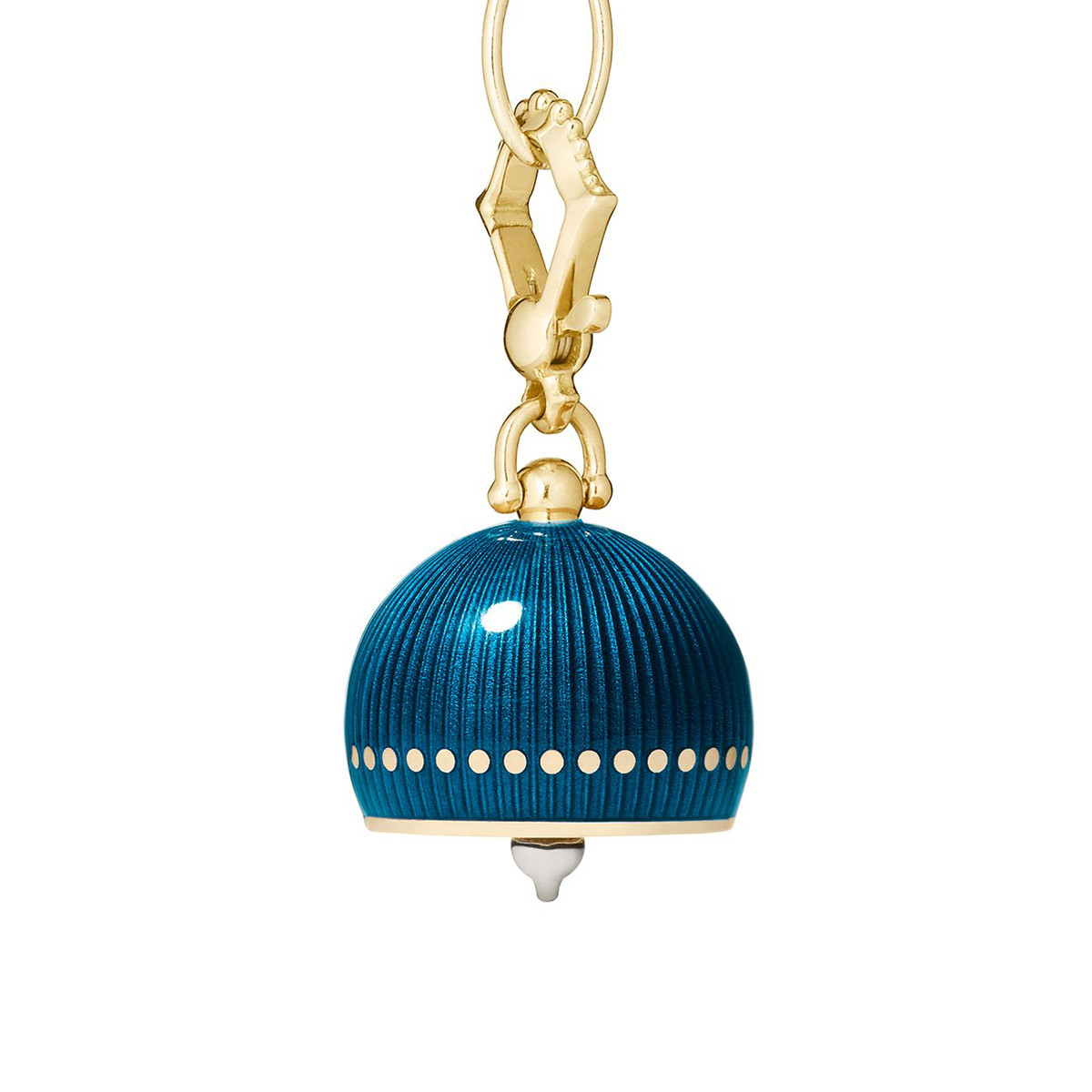 Medium 18k Yellow Gold & Enamel Meditation Bell
