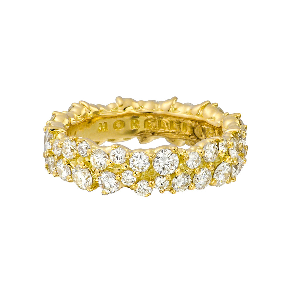 """Confetti"" 18k Gold & Diamond Band Ring"