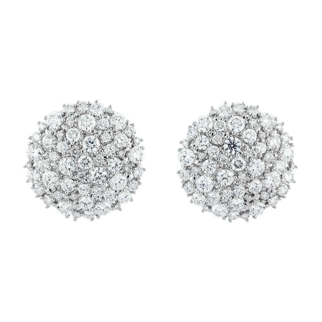 "Diamond ""Confetti"" Circle Earclips"