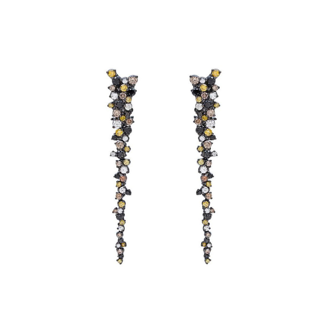 "Multicolored Diamond ""Confetti"" Drop Earrings"