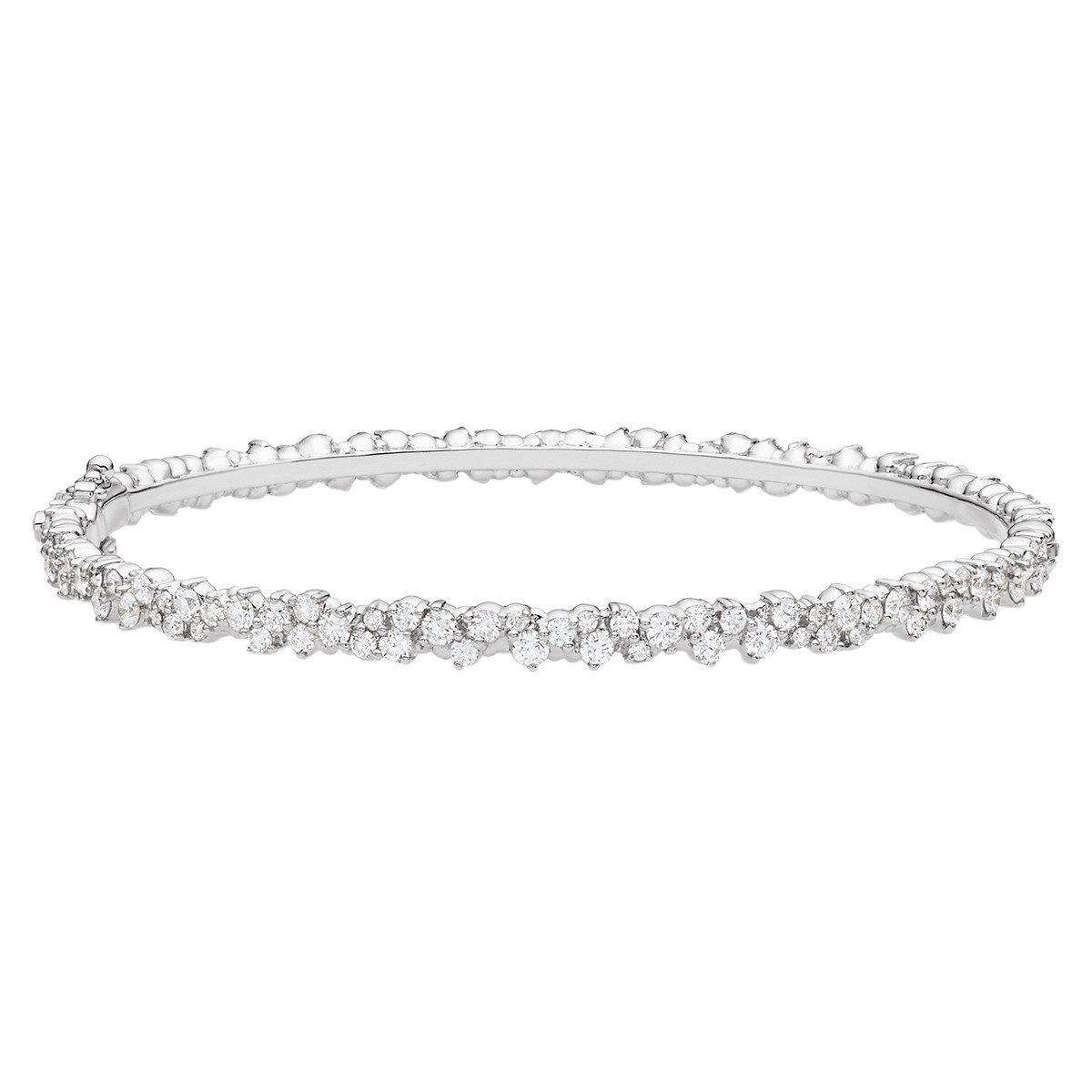 "18k White Gold & Diamond ""Confetti"" Bangle"