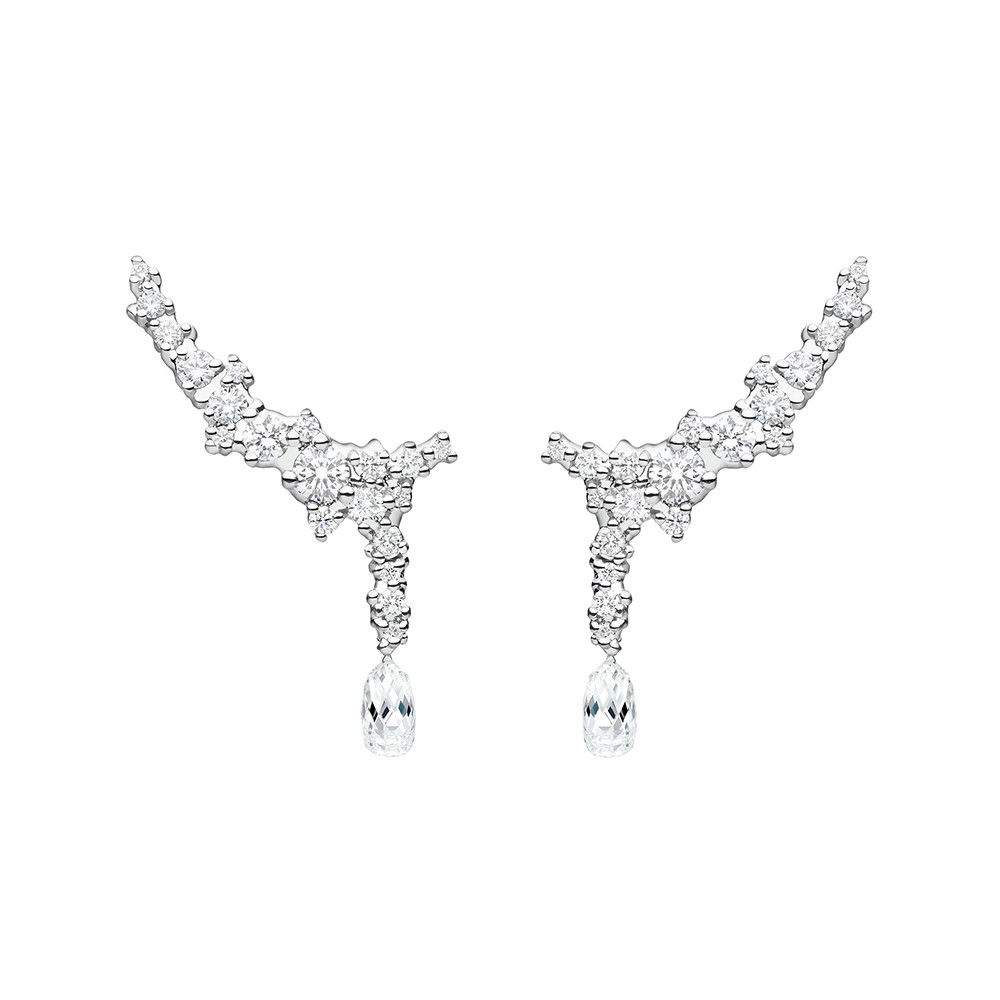 "Diamond ""Confetti"" Trellis Drop Earrings"