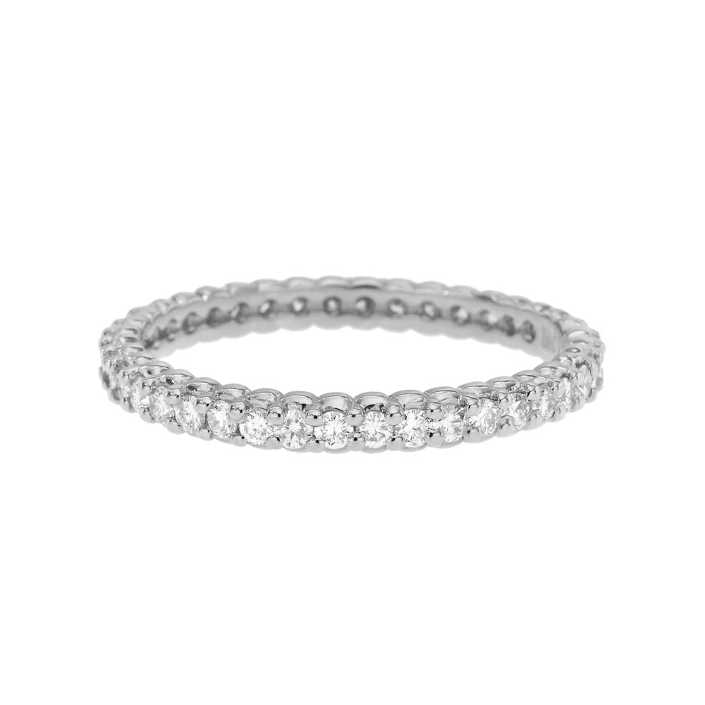 "18k White Gold & Diamond ""Pinpoint"" Eternity Band"