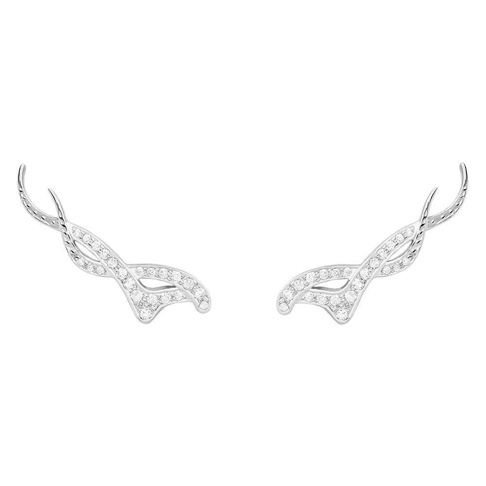 """Diamond Nouveau"" Trellis Earrings"