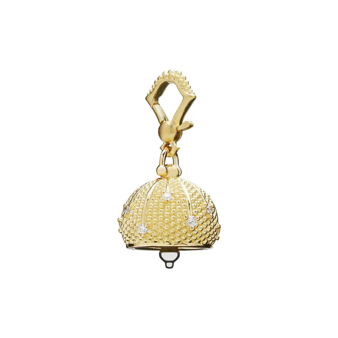 "Small 18k Gold & Diamond ""Sequence"" Meditation Bell"