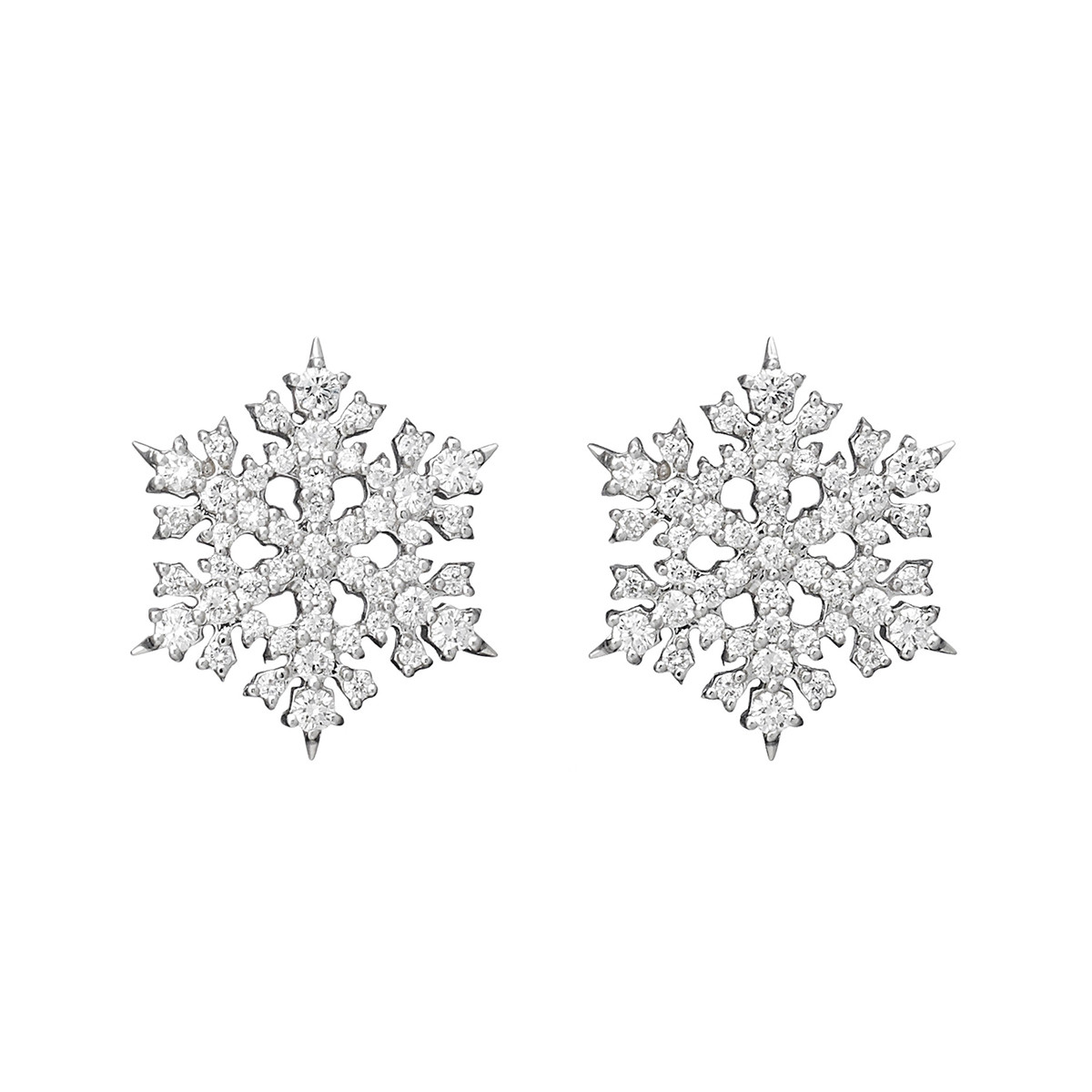 "Diamond ""Snowflake"" Stud Earrings"