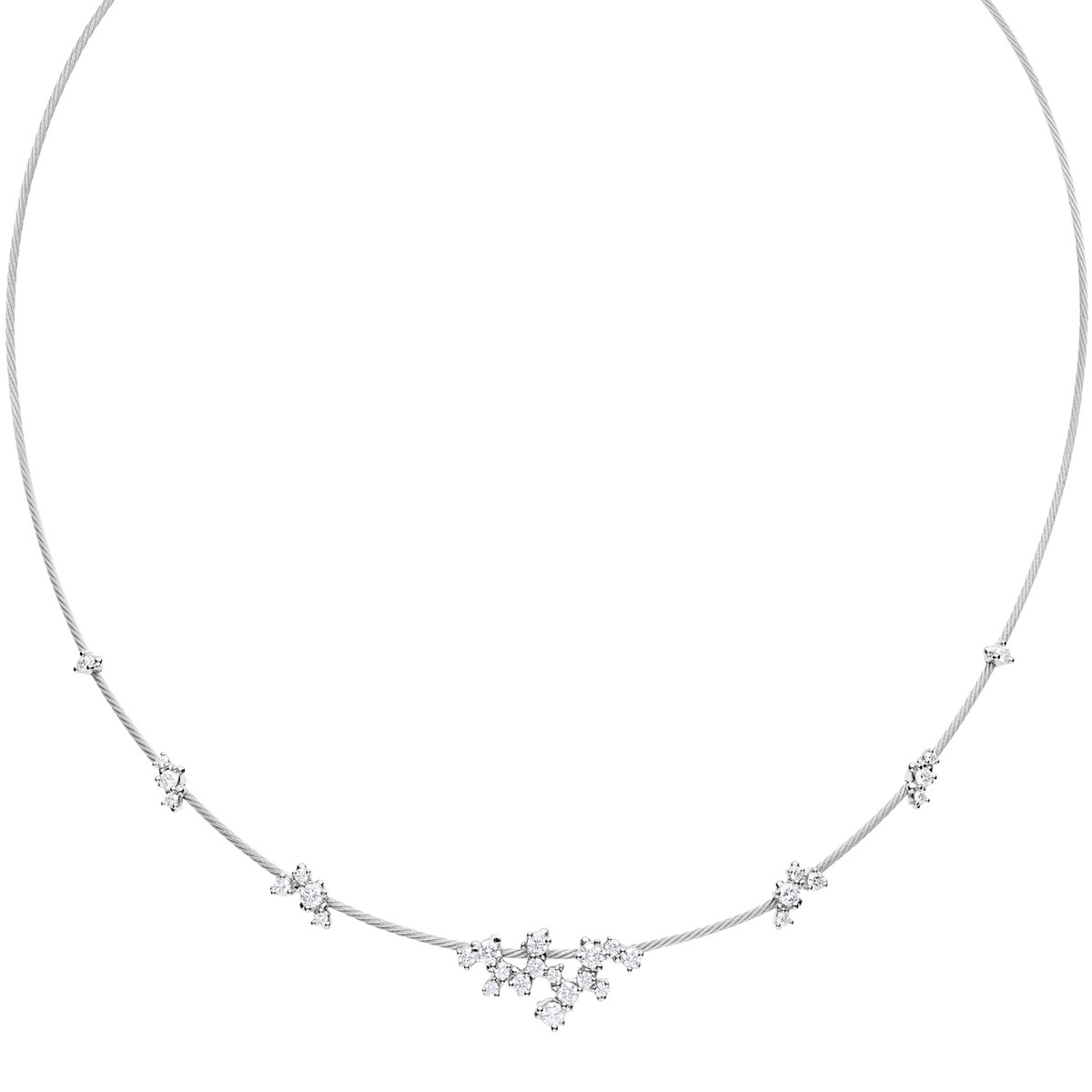 "18k White Gold & Diamond ""Unity Confetti"" Necklace"