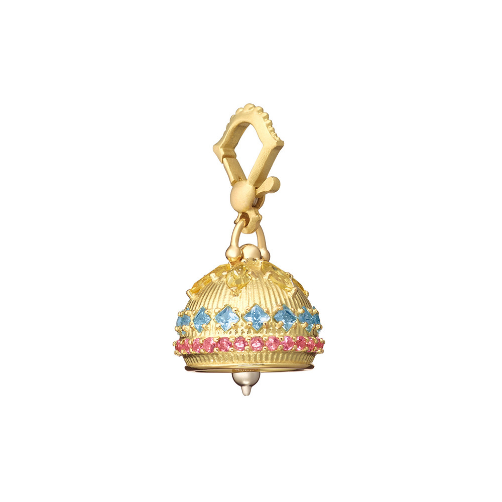 Small 18k Gold & Gemstone Meditation Bell
