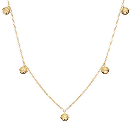 Small Meditation Bell Chain Long Necklace