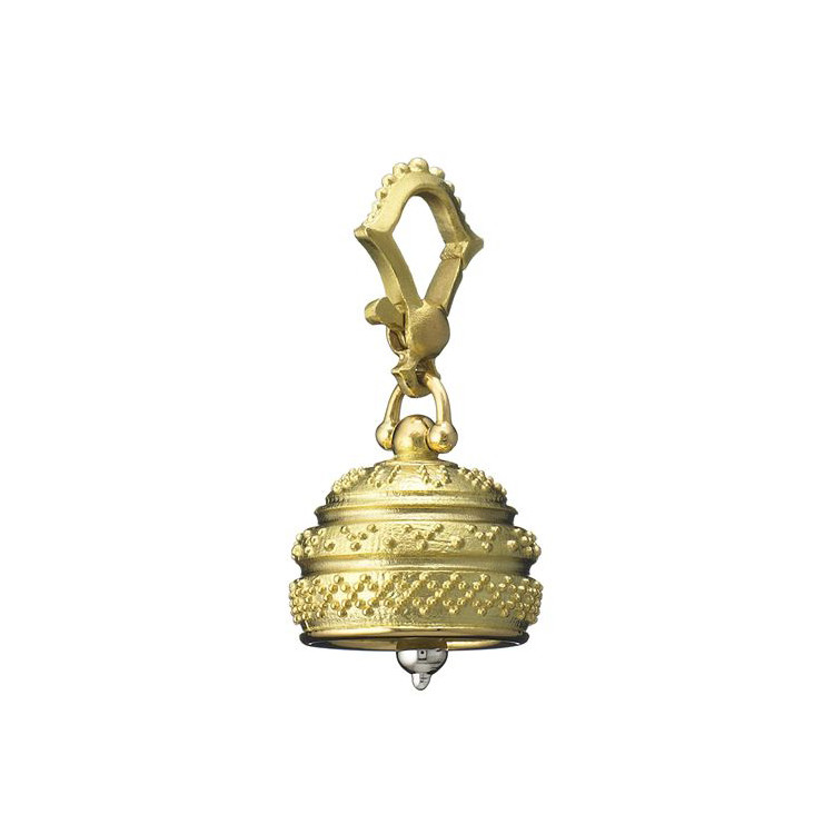 Small 18k Gold Granulated Meditation Bell