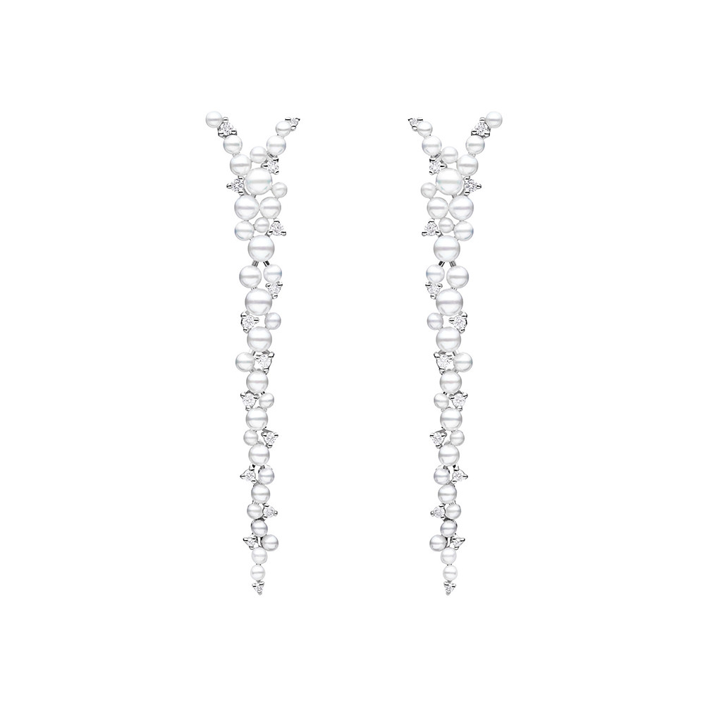 "Pearl & Diamond ""Lagrange"" Drop Earrings"