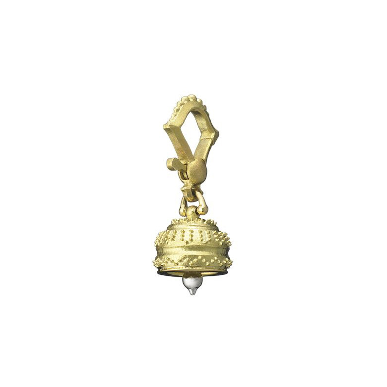 Mini 18k Gold Granulated Meditation Bell