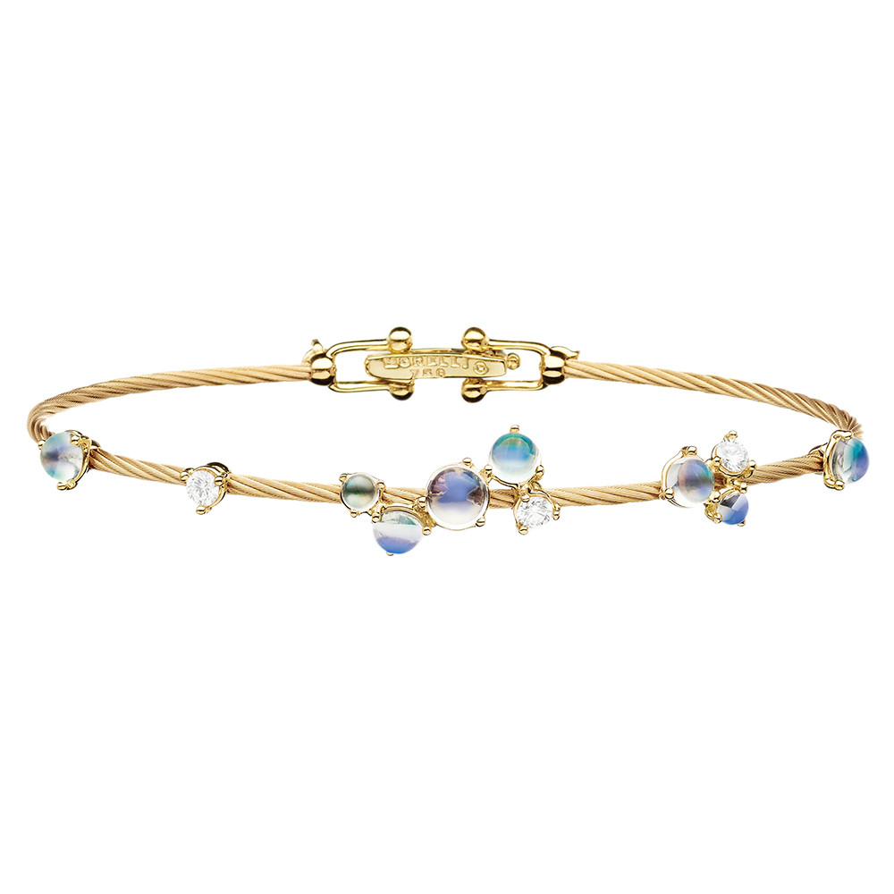 "18k Yellow Gold & Moonstone ""Unity Bubble"" Bracelet"