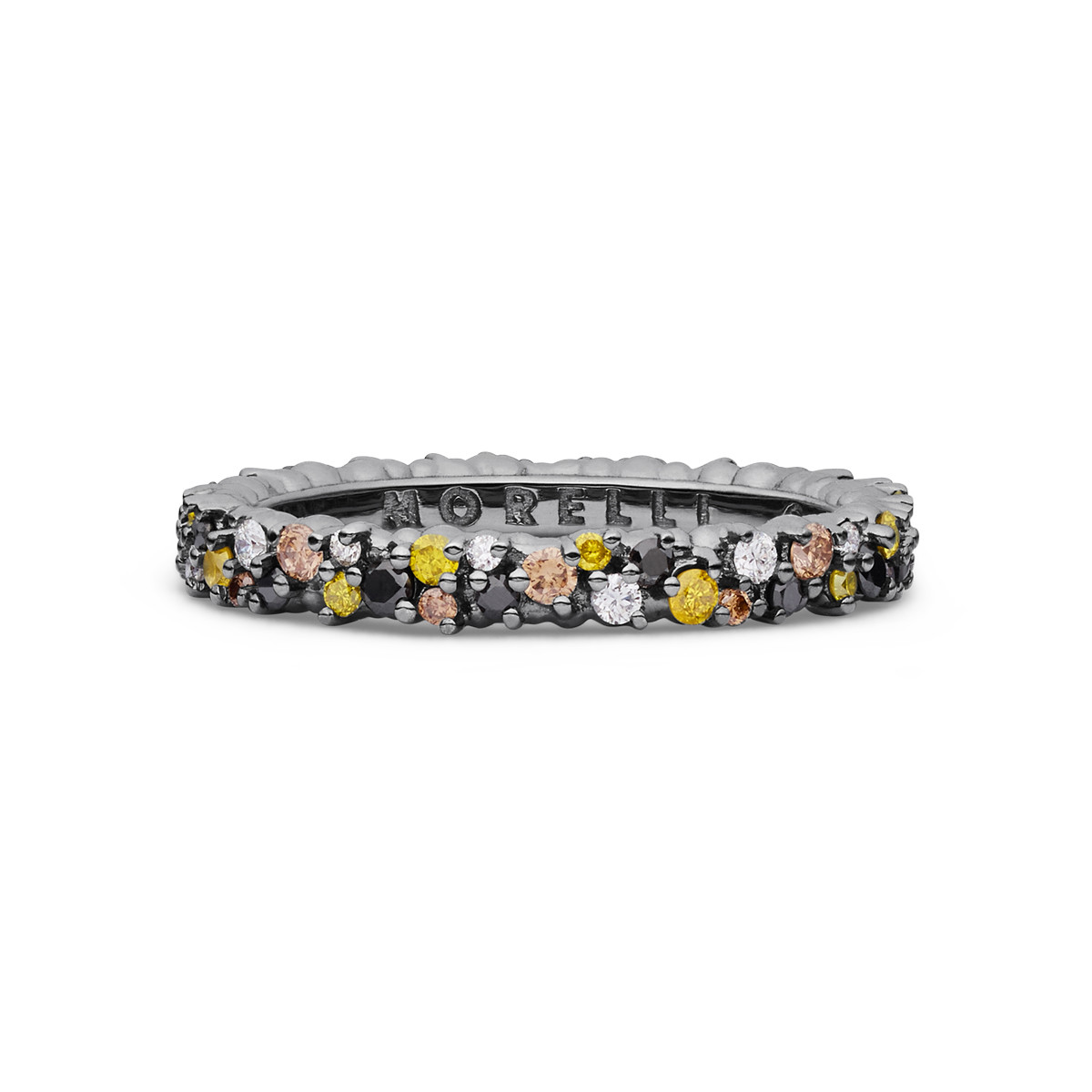 "Multicolored Diamond Extra Small ""Confetti"" Band Ring"