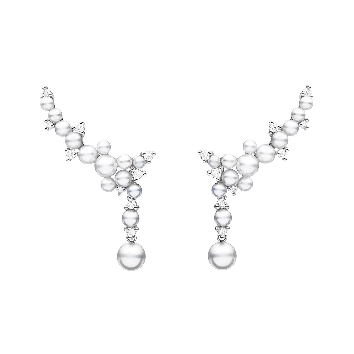 "Pearl & Diamond ""Lagrange"" Trellis Earrings"