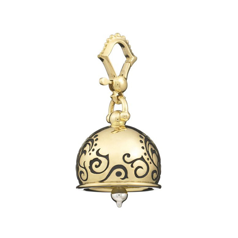 "Medium ""Tattoo"" 18k Gold Meditation Bell"