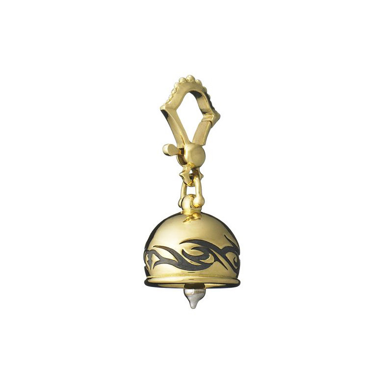 "Extra Small ""Tribal"" 18k Gold Meditation Bell"