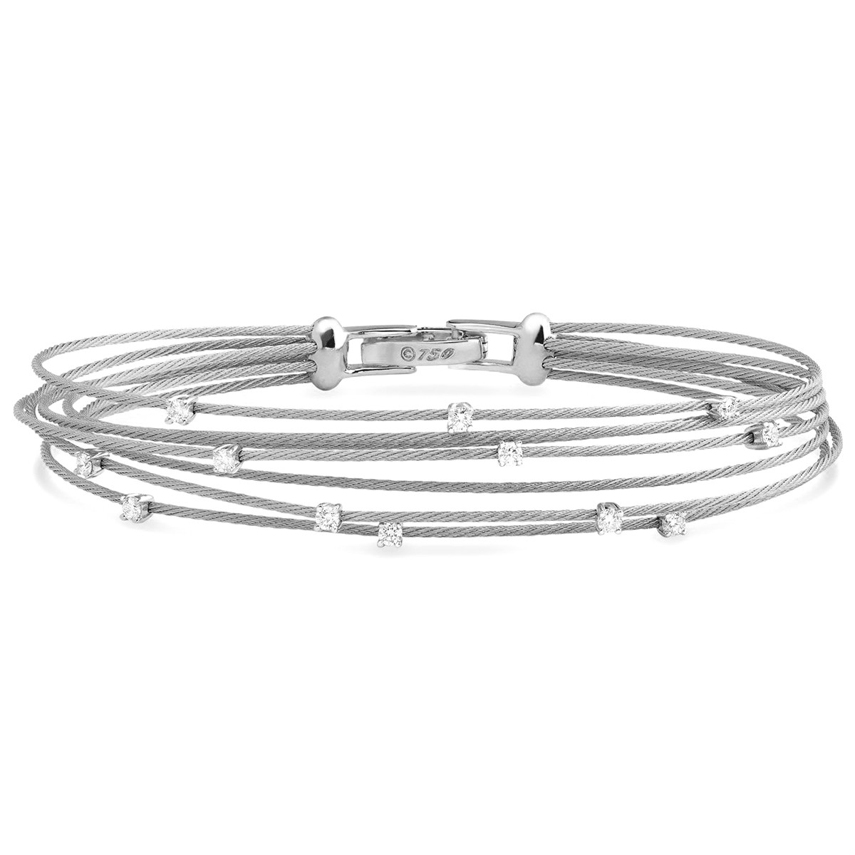 "18k White Gold & Diamond ""Unity"" Bundle Bracelet"