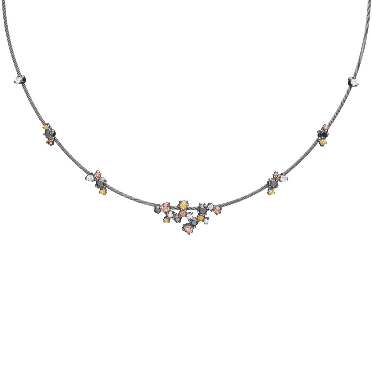 "Multicolored Diamond ""Unity Confetti"" Necklace"