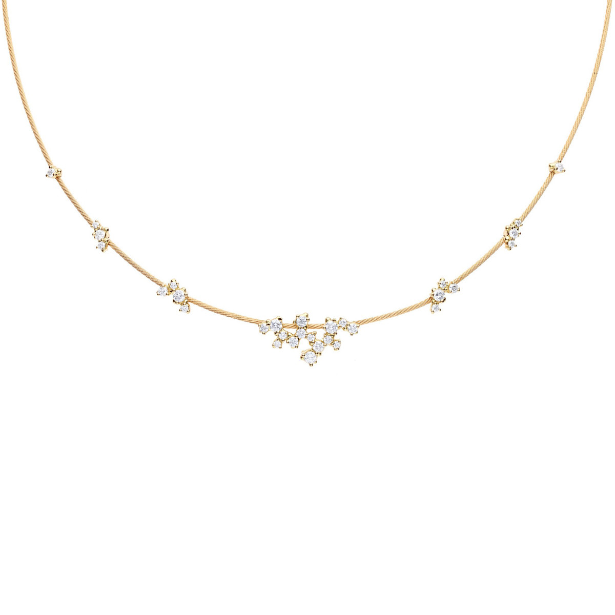 "18k Yellow Gold & Diamond ""Unity Confetti"" Necklace"